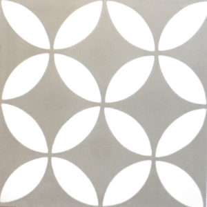 Encaustic Cement Tile - A119 E (Grey & White)