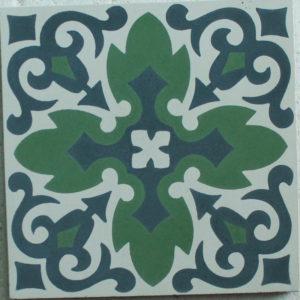 Encaustic Cement Tile - A205