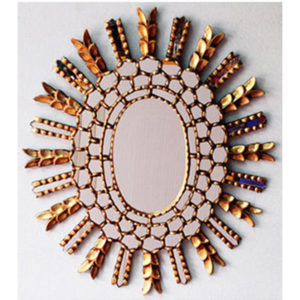 Handcrafted Gilded Mirror - Gold