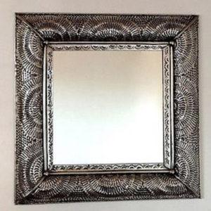 Metal Fan Mirror - Square