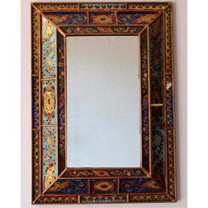 Reverse Hand Painted Mirror - Colonial