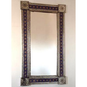 Tile Mirror - Blue