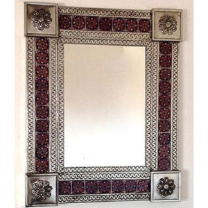 Tile Mirror - Blue (Square)