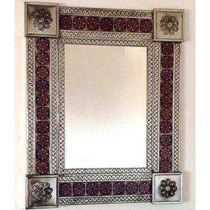Tile Mirror - Blue (Square)