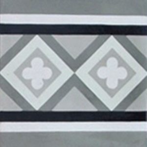 Encaustic Cement Tile – B958