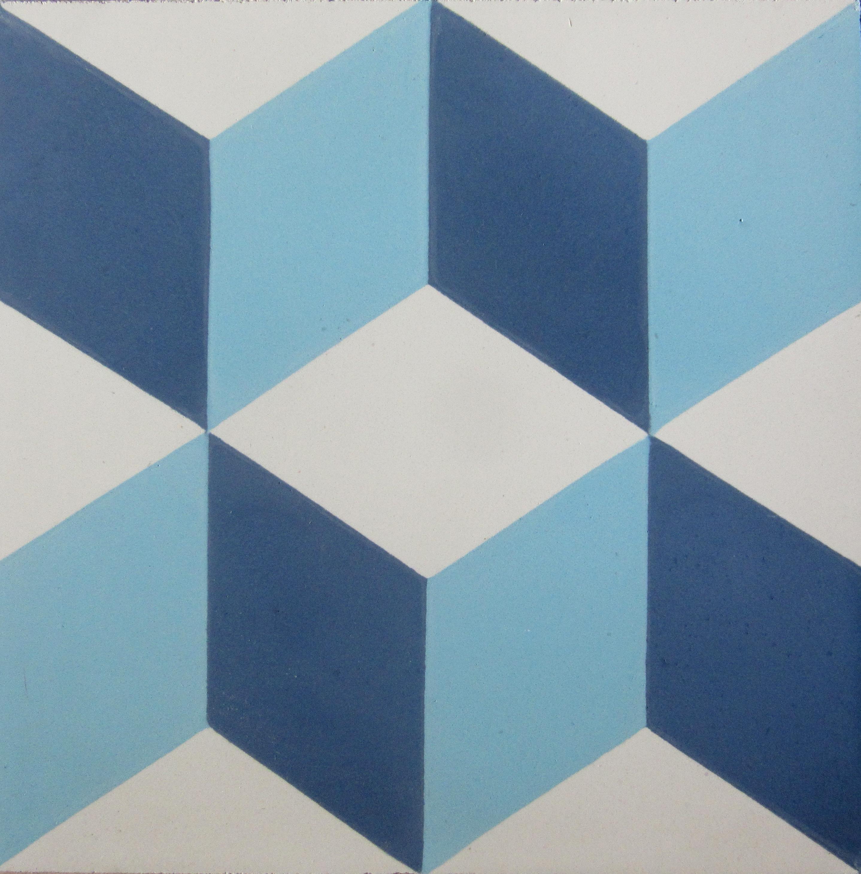 Encaustic cement tile a112 blue hadeda tiles for Ciment tiles
