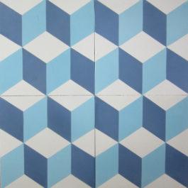 Encaustic Cement Tile - A112 Blue