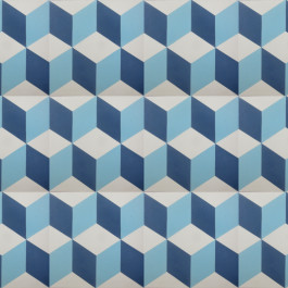 Encaustic Cement Tile - A112 Blue