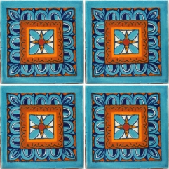 Mexican Talavera Tile - HAD 030_TURQ
