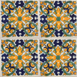 Mexican Talavera Tile - HAD 048_YELLOW