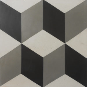Encaustic Cement Tile A112-GREY