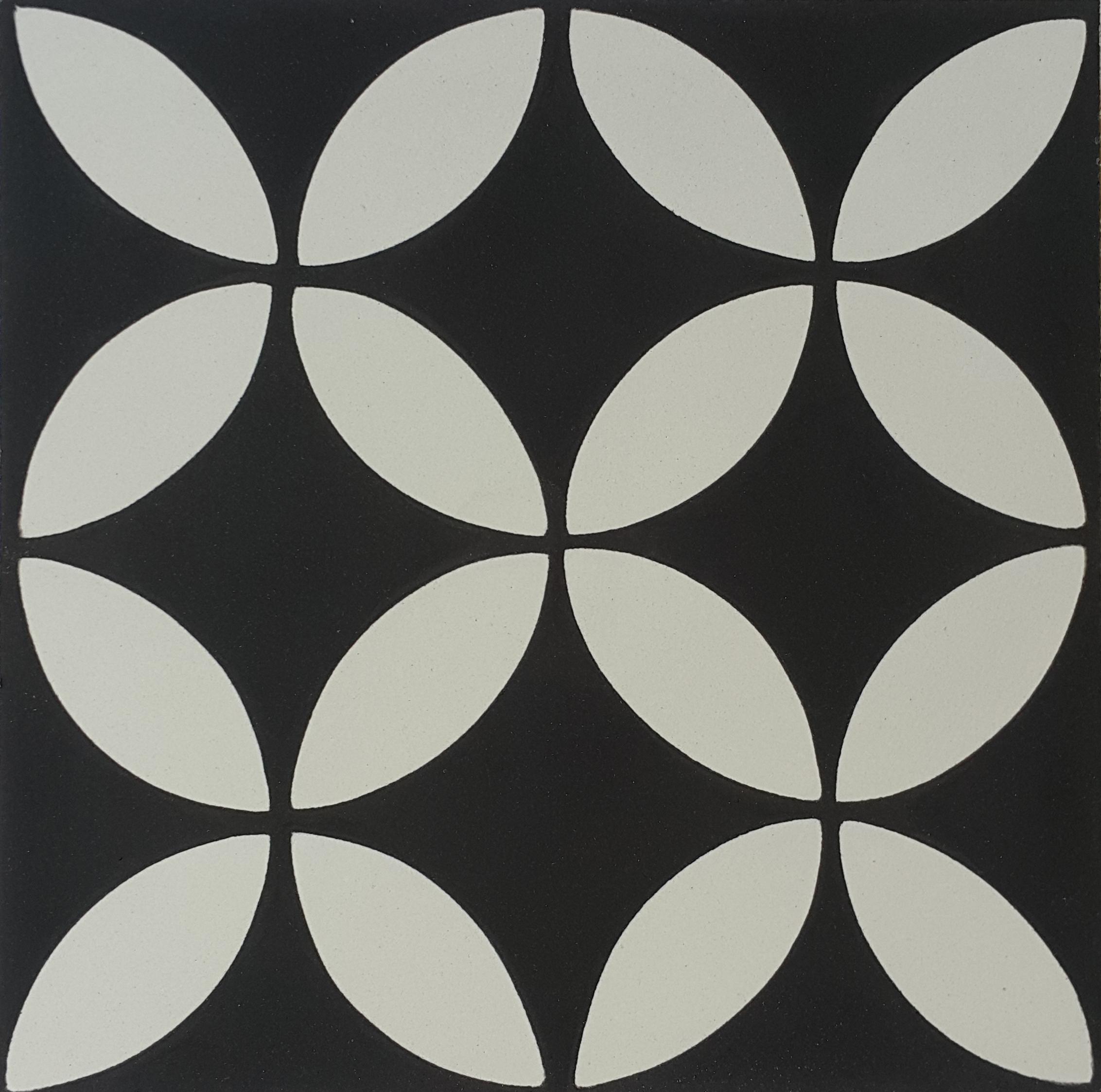 Black And White Encaustic Concrete Tile Floor Designs