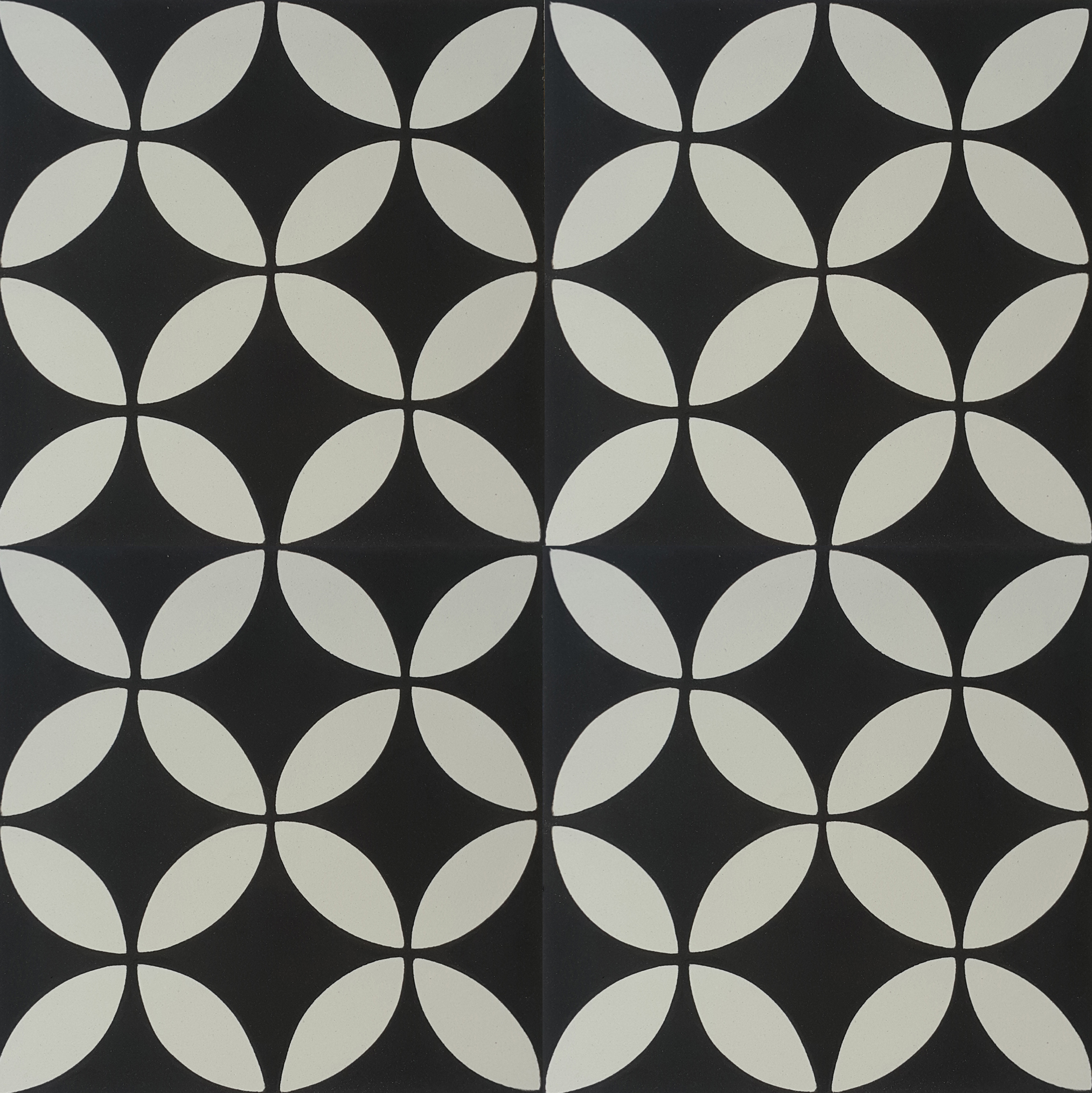 Encaustic Cement Tile A119 A Black White Hadeda Tiles