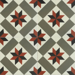 Encaustic Cement Tile A158-RED