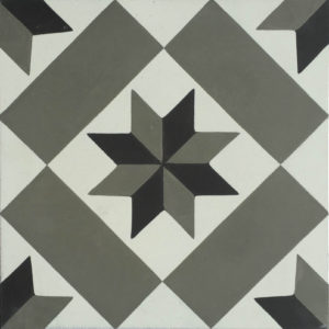 Encaustic Cement Tile A158-GREY