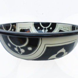 Ceramic Basin Black & White B- Large