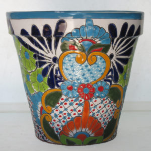 Ceramic Cone Flower Pot - Multi