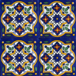 Mexican Talavera Tile - HAD 074 BLUE