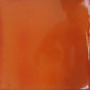 Mexican Talavera Tile – Plain Orange