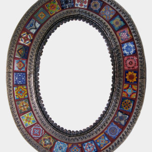 Tiled Mirror Oval - A