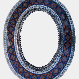 Tiled Mirror Oval - B