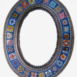 Tiled Mirror Oval - C