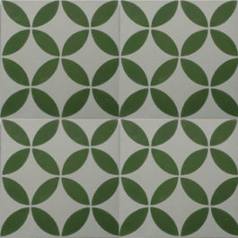 Encaustic Cement Tile – A119 Green