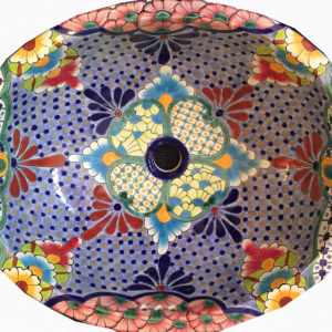 Ceramic Basin Oval Large – (Multi)