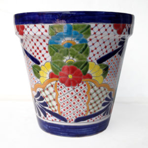 Ceramic Cone Flower Pot- Multi