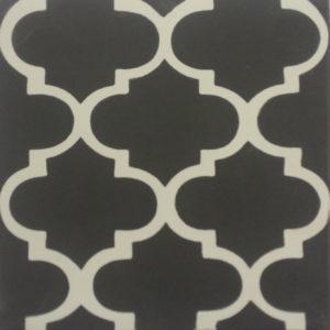 Encaustic Cement Tile A635-BLACK