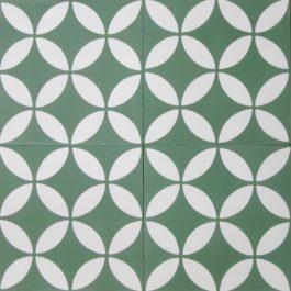 Encaustic Cement Tile A199-GREEN