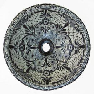 Ceramic Basin Round- Colonial Negrita