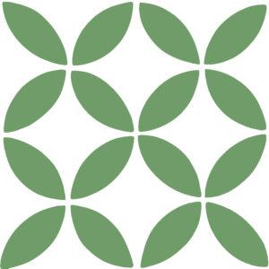 Encaustic Cement Tile A119-GREEN