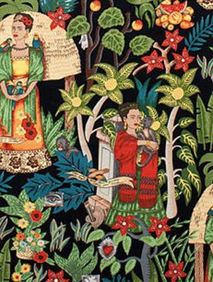 Frida's Garden Upholstery - Black