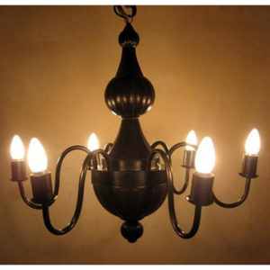 6 Arm Chandelier - Oxidized
