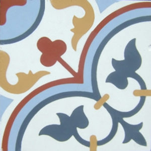 Encaustic Cement Tile - A405D