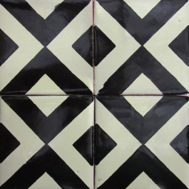 Mexican Talavera Tile HAD Hadeda Tiles - Black and white talavera tile