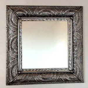 Metal Fan Mirror - Square