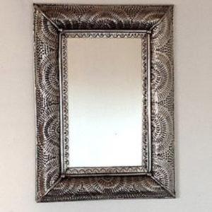 Metal Fan Mirror - Rectangular