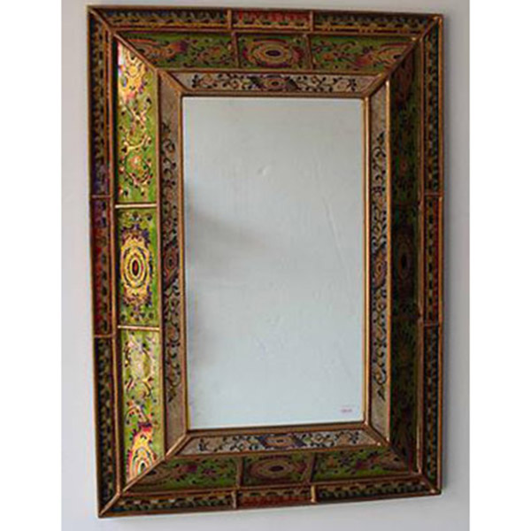 Reverse Hand Painted Mirror Colonial Hadeda Tiles - 5x5 mirror tiles