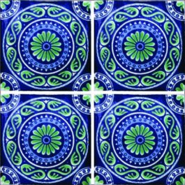 Mexican Talavera Tile - HAD027 (AZ 009)
