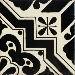 Mexican Talavera Tile – HAD 088-BLACK