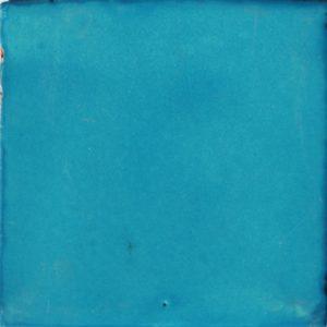 Mexican Talavera Tile – Plain Turquoise