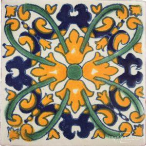 Mexican Talavera Tile - HAD 048_YELLOW