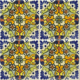 Mexican Talavera Tile - HAD 058_GREEN