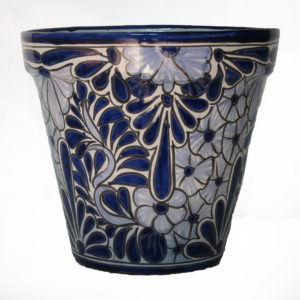 Ceramic Flower Pot 30cm - Blue & White