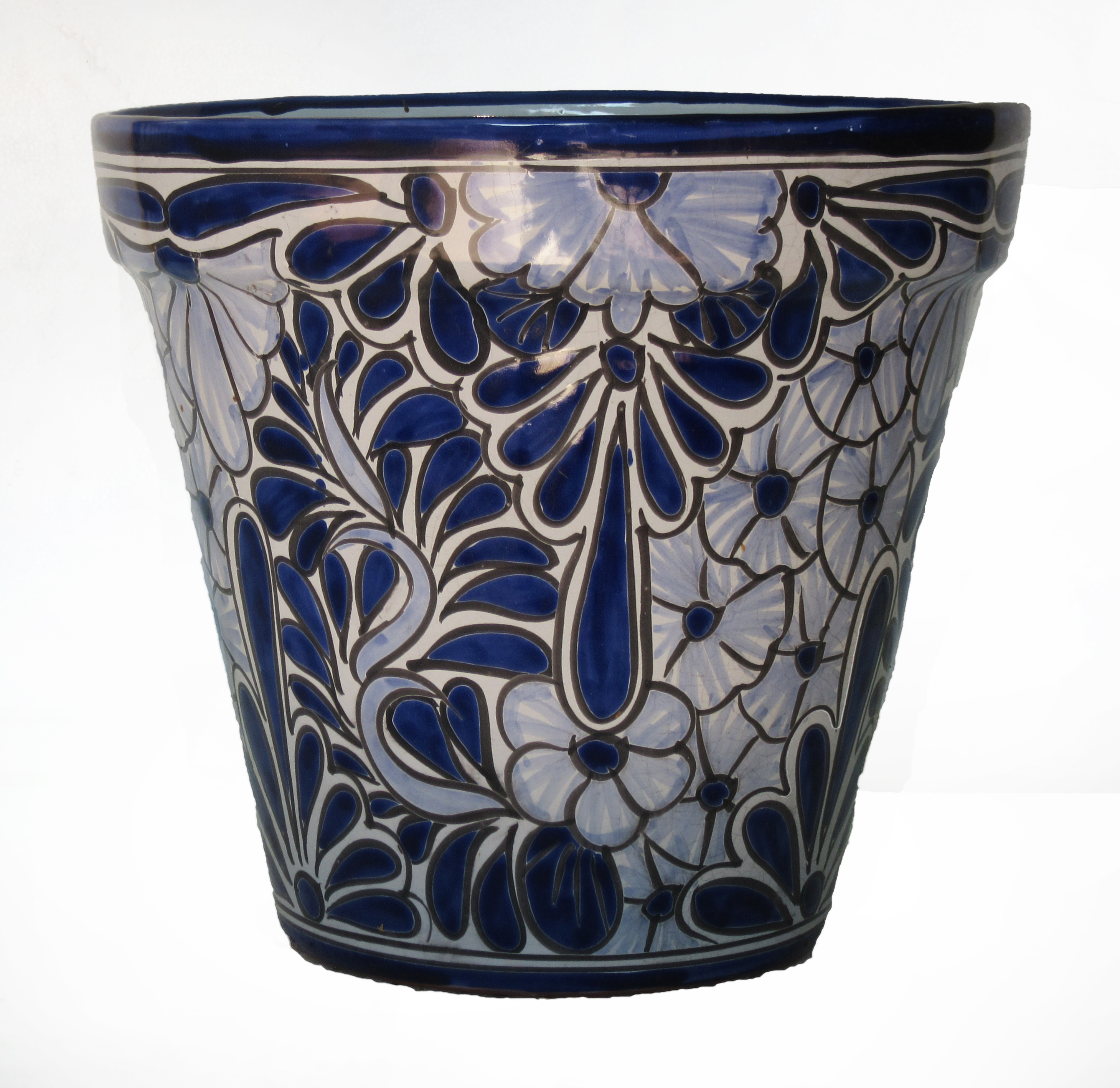 Blue white flower pot migrant resource network ceramic flower pot 30cm blue white hadeda tiles mightylinksfo