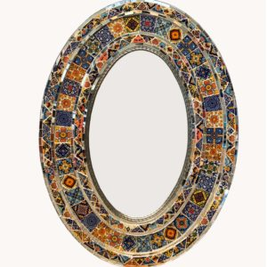Tiled Mirror- Oval (Gloria-Special) (JUST ARRIVED)