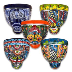 Ceramic Talavera Wall Pot - Large (30cm)