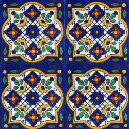 Mexican Talavera Tile - HAD 074 BLUE